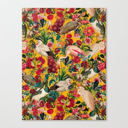 FLORAL AND BIRDS XVIII Canvas Print