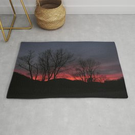 Red Glow Worm Rug