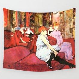 """Henri de Toulouse-Lautrec """"Au Salon de la rue des Moulins"""" Wall Tapestry"""