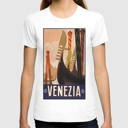 Venice, Italy, Venezia, travel vintage poster T-shirt