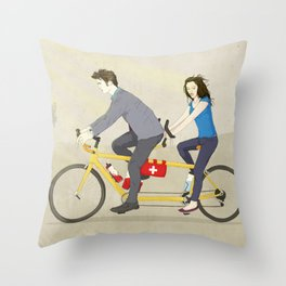 Hop on Spider Monkey Throw Pillow