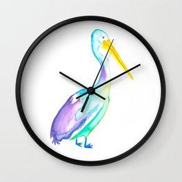 Watercolour Pelican Wall Clock