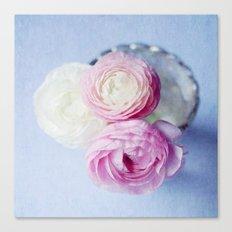 Summer Pastel Ranunculus Canvas Print