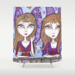 Fortune Teller faeries Shower Curtain