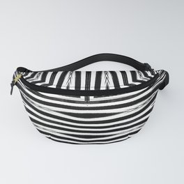 Geometric Black and White African Inspired Pattern Fanny Pack