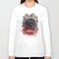 godzilla Long Sleeve T-shirts featuring Godzilla by Denda Reloaded