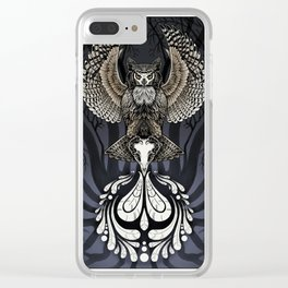 Owl Deck: Ace of Spades Clear iPhone Case