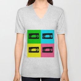 Pop Art VHS Tape Unisex V-Neck
