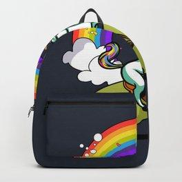 Unicorn ride dino Backpack