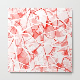White red abstract Metal Print