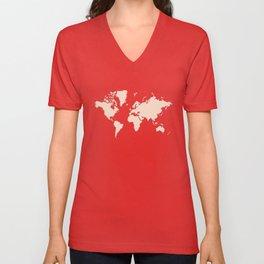 World with no Borders - blush Unisex V-Neck
