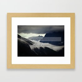 Angels or demons Framed Art Print