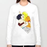 sasuke Long Sleeve T-shirts featuring Sasuke y Liara by rosalia