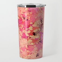 Two Different Worlds -- Floral Pattern Travel Mug