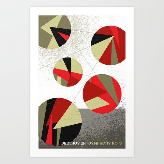 Beethoven Symphony No. 5 Art Print