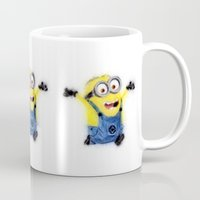 minion Mugs featuring Minion by KitschyPopShop
