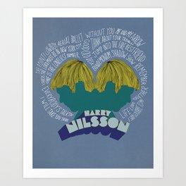 Harry Nilsson Legacy Poster Design Art Print