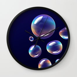 Holographic Bubbles Wall Clock