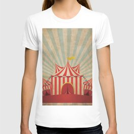 Shabby Circus Tent Retro Vintage Kitschy T-shirt