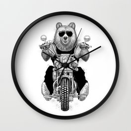 carefree bear Wall Clock