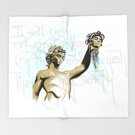 Perseus with the Head of Medusa Throw Blanket