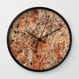 Classic Terra di Siena ('Sienna Earth') Italian Marble Wall Clock