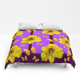 FOR THE LOVE OF BUTTERFLIES PURPLE ART Comforters
