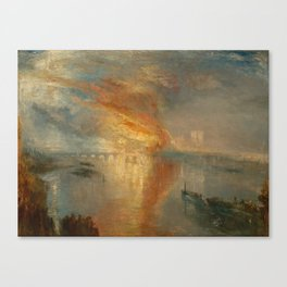 The Burning of the Houses of Lords and Commons, 16 October 1834- Joseph Mallord WIlliam Turner Canvas Print