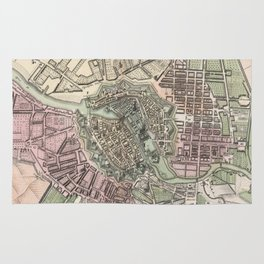 Vintage Map of Berlin Germany (1716) Rug