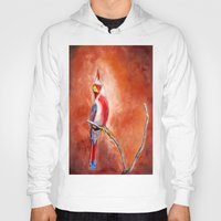 cardinal Hoodies featuring cardinal by HaMaD ArT