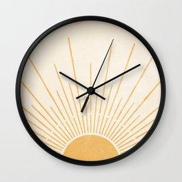 Sun #5 Yellow Wall Clock