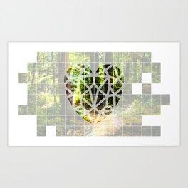 Corazón de Bosque Art Print