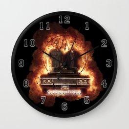 Supernatural Explosion 3 Wall Clock