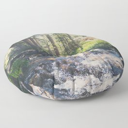 a mountain stream ... Floor Pillow