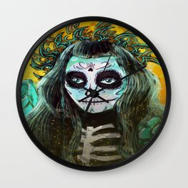 Day of the Dead Bumble Bee Wall Clock