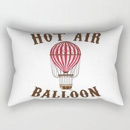 Hot Air Balloon Retro Balloonist Pilot Ballooning Rectangular Pillow