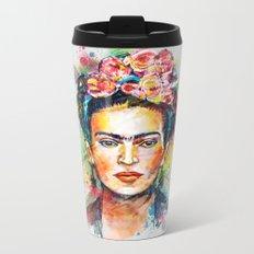 Frida Kahlo Metal Travel Mug