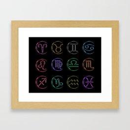 Glassy Horoscope Framed Art Print