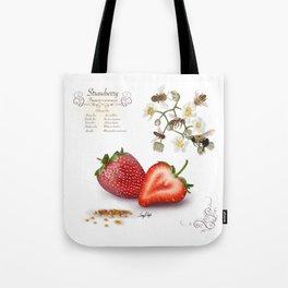 Strawberry and Pollinators Tote Bag