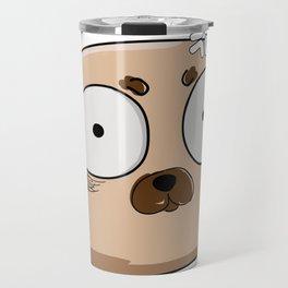 scared pug Travel Mug