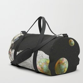 Moon Shot #collage Duffle Bag