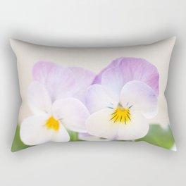 Spring Love #1 - Soft violet-white Pansies #decor #art #society6 Rectangular Pillow