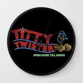 Titty Twister Wall Clock