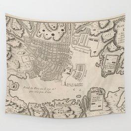 Vintage Map of Nagasaki Japan (1764) Wall Tapestry