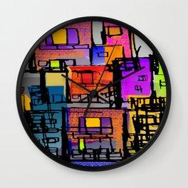 Color Block City Wall Clock