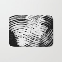 motion abstract black and white digital art Bath Mat
