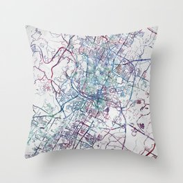 Austin map Throw Pillow