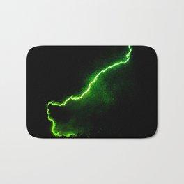 Chartreuse Lightning Bath Mat