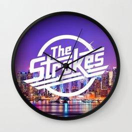 The Strokes Logo New York Night Wall Clock