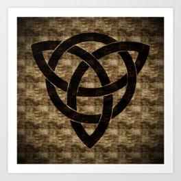 Wooden Celtic Knot Art Print